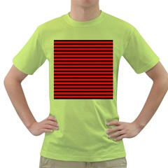 Horizontal Stripes Red Black Green T Shirt