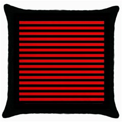 Horizontal Stripes Red Black Throw Pillow Case (black)