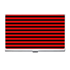 Horizontal Stripes Red Black Business Card Holders
