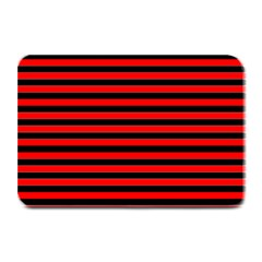 Horizontal Stripes Red Black Plate Mats