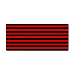 Horizontal Stripes Red Black Cosmetic Storage Cases