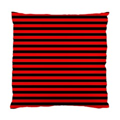 Horizontal Stripes Red Black Standard Cushion Case (two Sides)