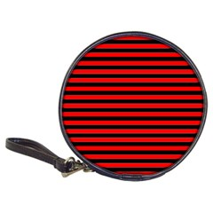 Horizontal Stripes Red Black Classic 20 Cd Wallets