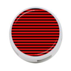 Horizontal Stripes Red Black 4 Port Usb Hub (two Sides)
