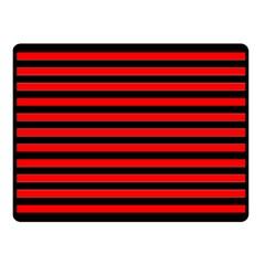 Horizontal Stripes Red Black Fleece Blanket (small)