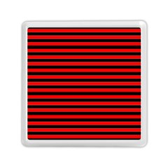 Horizontal Stripes Red Black Memory Card Reader (square)