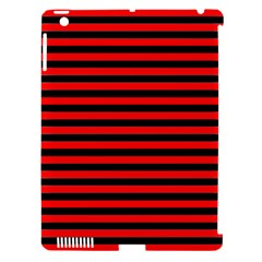 Horizontal Stripes Red Black Apple Ipad 3/4 Hardshell Case (compatible With Smart Cover)