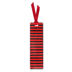 Horizontal Stripes Red Black Small Book Marks