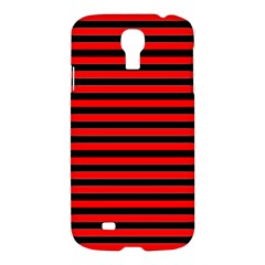 Horizontal Stripes Red Black Samsung Galaxy S4 I9500/i9505 Hardshell Case