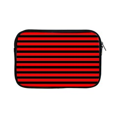 Horizontal Stripes Red Black Apple Ipad Mini Zipper Cases