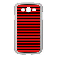 Horizontal Stripes Red Black Samsung Galaxy Grand Duos I9082 Case (white)