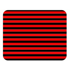Horizontal Stripes Red Black Double Sided Flano Blanket (large)