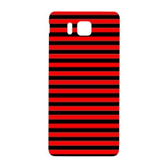 Horizontal Stripes Red Black Samsung Galaxy Alpha Hardshell Back Case