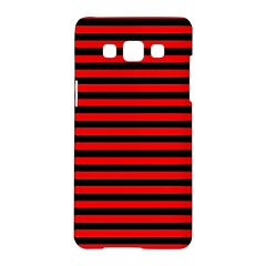 Horizontal Stripes Red Black Samsung Galaxy A5 Hardshell Case