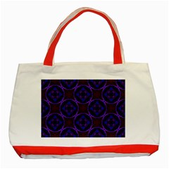 Background Colour Blue Flower Classic Tote Bag (red)
