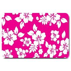 Pink Hawaiian Flower Large Doormat