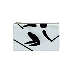 Alpine Skiing Pictogram  Cosmetic Bag (small)
