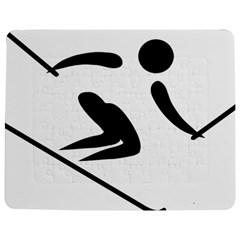 Alpine Skiing Pictogram  Jigsaw Puzzle Photo Stand (Rectangular)