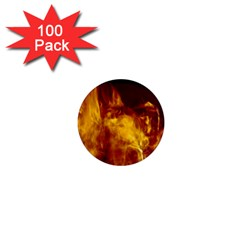 Ablaze Abstract Afire Aflame Blaze 1  Mini Magnets (100 Pack)