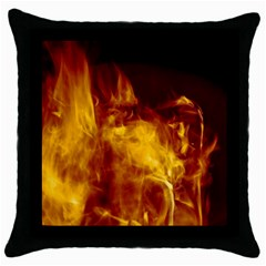 Ablaze Abstract Afire Aflame Blaze Throw Pillow Case (black)