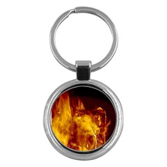 Ablaze Abstract Afire Aflame Blaze Key Chains (round)