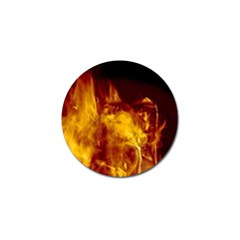 Ablaze Abstract Afire Aflame Blaze Golf Ball Marker