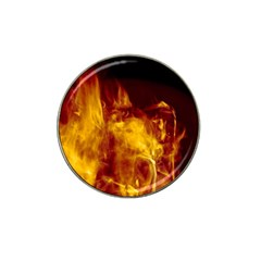 Ablaze Abstract Afire Aflame Blaze Hat Clip Ball Marker (4 Pack)