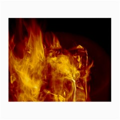 Ablaze Abstract Afire Aflame Blaze Small Glasses Cloth
