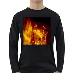 Ablaze Abstract Afire Aflame Blaze Long Sleeve Dark T Shirts