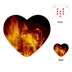 Ablaze Abstract Afire Aflame Blaze Playing Cards (heart)