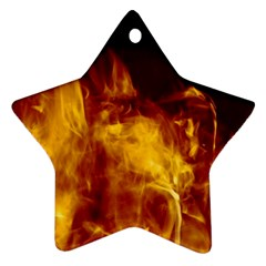 Ablaze Abstract Afire Aflame Blaze Star Ornament (two Sides)