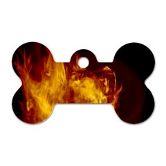Ablaze Abstract Afire Aflame Blaze Dog Tag Bone (one Side)