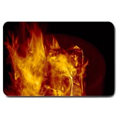 Ablaze Abstract Afire Aflame Blaze Large Doormat