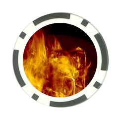 Ablaze Abstract Afire Aflame Blaze Poker Chip Card Guard
