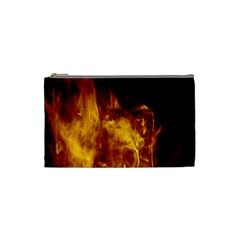 Ablaze Abstract Afire Aflame Blaze Cosmetic Bag (small)
