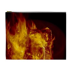 Ablaze Abstract Afire Aflame Blaze Cosmetic Bag (xl)