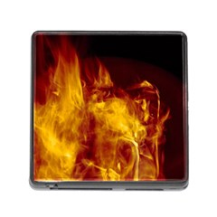 Ablaze Abstract Afire Aflame Blaze Memory Card Reader (square)