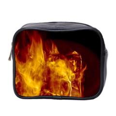 Ablaze Abstract Afire Aflame Blaze Mini Toiletries Bag 2 Side