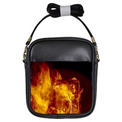 Ablaze Abstract Afire Aflame Blaze Girls Sling Bags