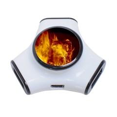 Ablaze Abstract Afire Aflame Blaze 3 Port Usb Hub