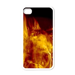 Ablaze Abstract Afire Aflame Blaze Apple Iphone 4 Case (white)