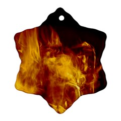 Ablaze Abstract Afire Aflame Blaze Ornament (snowflake)