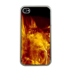 Ablaze Abstract Afire Aflame Blaze Apple Iphone 4 Case (clear)