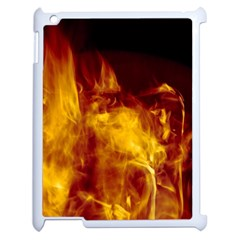 Ablaze Abstract Afire Aflame Blaze Apple iPad 2 Case (White)