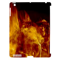 Ablaze Abstract Afire Aflame Blaze Apple Ipad 3/4 Hardshell Case (compatible With Smart Cover)