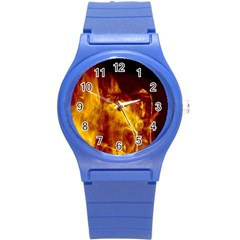 Ablaze Abstract Afire Aflame Blaze Round Plastic Sport Watch (s)