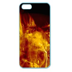 Ablaze Abstract Afire Aflame Blaze Apple Seamless Iphone 5 Case (color)