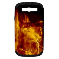 Ablaze Abstract Afire Aflame Blaze Samsung Galaxy S Iii Hardshell Case (pc+silicone)