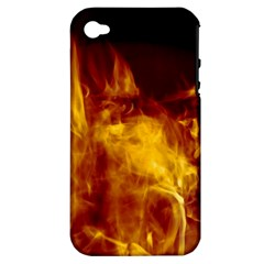 Ablaze Abstract Afire Aflame Blaze Apple Iphone 4/4s Hardshell Case (pc+silicone)
