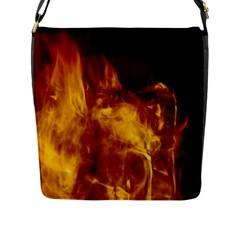Ablaze Abstract Afire Aflame Blaze Flap Messenger Bag (l)
